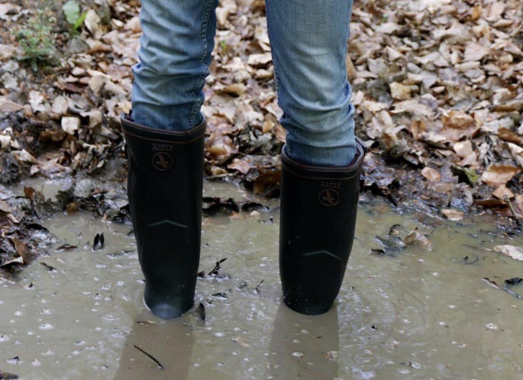 Füße im Sumpf